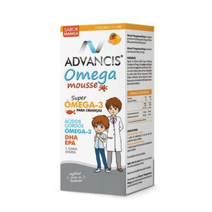 Advancis Omega Mousse é um suplemento alimentar sob a forma de emulsão, composto por ácidos gordos essenciais ómega-3, com elevada concentração em ácido docosahexaenóico (DHA).