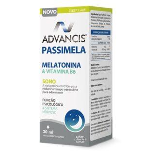 Advancis Passimela Frasco Conta-Gotas de 30 ml,suplemento alimentar. Com a finalidade de indução do sono, de diminuir o tempo para adormecer e melhorar a função psicológica e sistema nervoso.