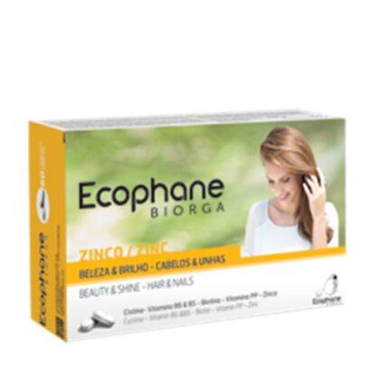 Ecophane Biorga 60 Comprimidos verdadeira cura de beleza sazonal, os suplementos alimentares Ecophane Biorga devolvem o brilho aos seus cabelos e unhas.