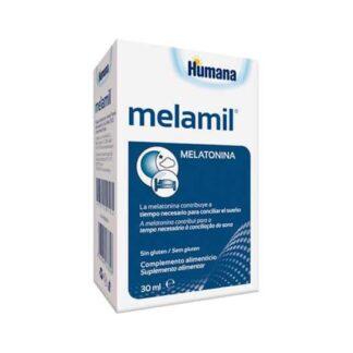 Melamil, suplemento alimentar à base de melatonina. A Melatonina contribui para a redução do tempo necessário à conciliação do sono.