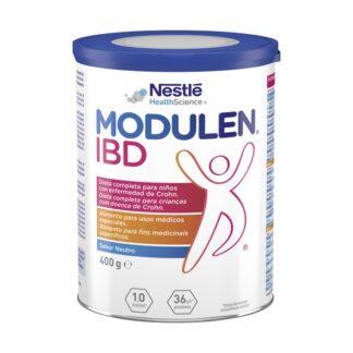 Nestlé Modulen IBD 400gr, é uma fórmula em pó única, com proteínas completas, para o tratamento dietético da doença de Crohn