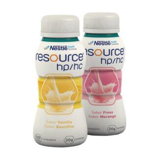 Nestlé Resource HP/HC Morango 4x200ml,dieta oral completa hipercalórica hiperproteica, em formato 200ml