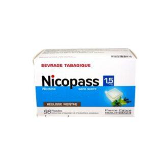 Nicopass 1,5 mg Menta Fresca 96 Pastilhas Pharmascalabis