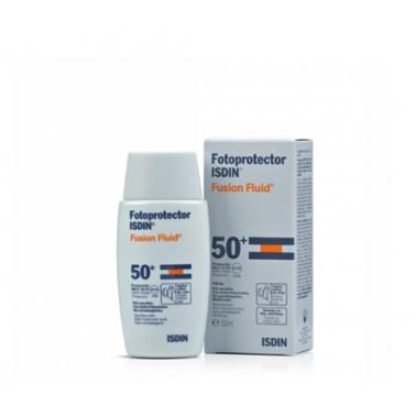 Isdin FotoProtetor Fusion Fluid FPS 50 50ml, inovadora textura ultraligeira que se funde com a sua pele. Proteção diária para as zonas mais delicadas e sensíveis ao sol.