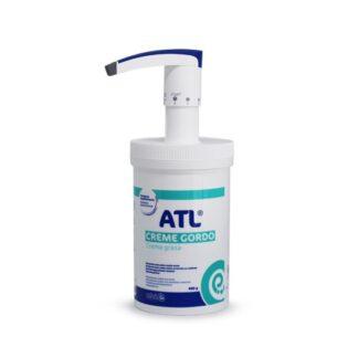 ATL Creme gordo protege a pele da secura extrema causada por agentes externos (frio, vento, detergentes, etc.). Está também indicado para o cuidado das zonas mais secas do corpo (cotovelos, joelhos, pés).
