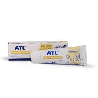 ATL Pasta de lassar com a sua fórmula, rica em óxido de zinco e amido de trigo, forma uma barreira que protege a pele dos efeitos das fezes e da urina. Acalma a vermelhidão e comichão, especialmente em situações de eritema da fralda e na prevenção de assaduras.