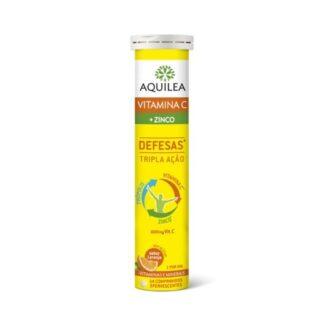 Aquilea Vitamina C + Zinco Defesa 14 Comprimidos Efervescentes, em tempos de frio ou mudança de estação, a Vitamina C + Zinco