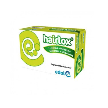 Hairlox 60 Capsulas contém zinco, que contribui para a manutenção de um cabelo normal e de unhas normais, e biotina, que contribui para a manutenção de um cabelo normal.