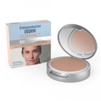 Isdin Fotoprotector Compact Areia FPS 50+ 10 Gr,com a finalidade de proteger e matificar. Maquilhagem compacta certamente com proteção muito elevada(FPS50+).
