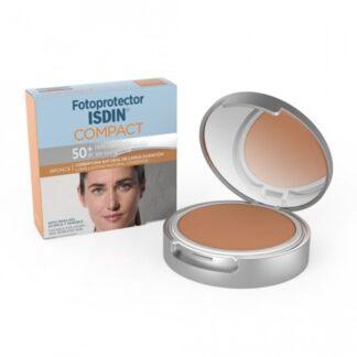 Isdin Fotoprotector Compact Bronze FPS50+ 10 Gr, com a finalidade de proteger e matificar.Maquilhagem compacta com proteção muito elevada (FPS50+).