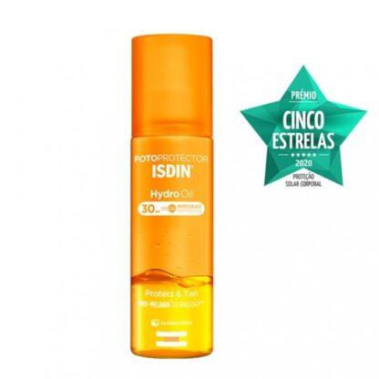 Isdin Fotoprotector Hydro Oil SPF30 200ml, Fotoprotetor corporal bifásico. Proteção elevada FPS 30. Protege e bronzeia até mais 43% a sua pele.