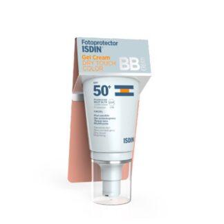 Isdin Fotoprotector Gel Cream Dry Touch Color SPF50+ 50ml, o primeiro Gel Cream com um toque seco, mate e que proporciona cor. Fotoproteção diária com cor, para a pele normal, mista e oleosa. A sua textura com cor oferece as propriedades de um BB Cream