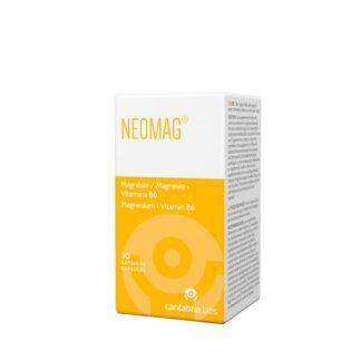 Neomag 30 Cápsulas, é formulado com 300 mg de ião Magnésio e Vitamina B6. O Magnésio é um mineral que contribui para o normal funcionamento muscular, para a manutenção de ossos normais e para o normal funcionamento do sistema nervoso