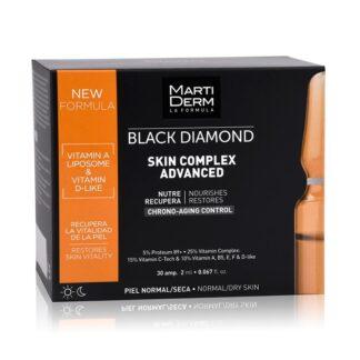 Martiderm Black Diamod Skin Complex 30 Ampolas, é a versão renovada de Skin Complex+