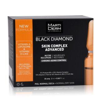Martiderm Black Diamod Skin Complex 30 Ampolas, é um produto anti-aging e antioxidante de ação intensiva
