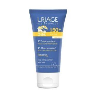 Uriage Bebe Primeiro Creme Mineral SPF50+ 50ml, para a pele intolerante e mais sensível dos bebés, este creme de fácil espalhamento