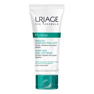 Uriage Hyséac Máscara Purificante Peel-Off 50ml, o gesto essencial para uma pele perfeita. Esta máscara purificante combina ingredientes ativos com uma textura inovadora peel-off, com eficácia visível após a primeira aplicação
