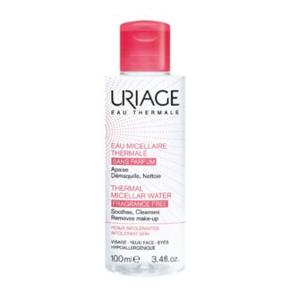 Uriage Água Termal Micelar Pele Intolerante 100ml, água Termal Micelar com Água Termal de Uriage remove eficazmente a maquilhagem