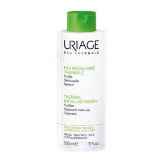 Uriage Água Termal Micelar Pele Mista a Oleosa 500ml, a Água Termal Micelar é ideal para remover a maquilhagem de todos os tipos de pele
