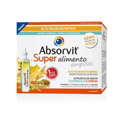 Absorvit Super Alimento 20 Ampolas - Pharma Scalabis