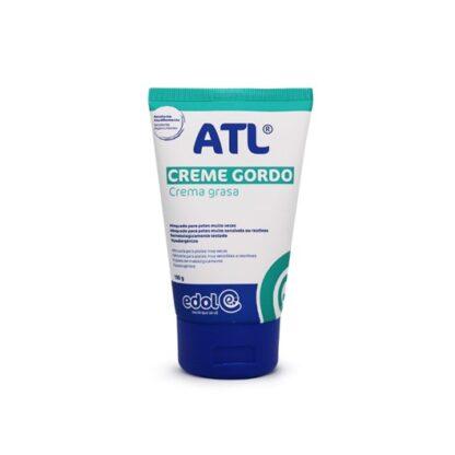 ATL Creme gordo protege a pele da secura extrema causada por agentes externos (frio, vento, detergentes, etc.). Está também indicado para o cuidado das zonas mais secas do corpo (cotovelos, joelhos, pés)