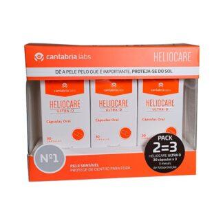 Heliocare Pack Ultra D 3x30 Cápsulas, suplemento alimentar formulado com extratos de plantas, Vitamina D e antioxidantes naturais, que contribuem