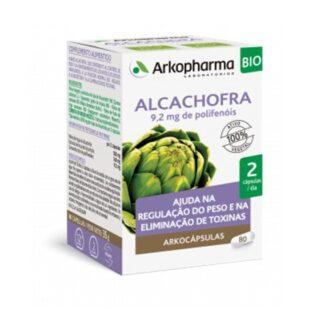 Arkocápsulas Alcachofra 80 Cápsulas, suplemento alimentar especialmente desenvolvido para favorecer o normal funcionamento do fígado e da digestão, para a manutenção de níveis saudáveis de lípidos no sangue e para o controle do peso e a eliminação de toxinas.