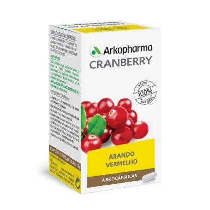 Arkocápsulas Cranberry 45 cápsulas, suplemento alimentar à base de Arando Vermelho, uma fórmula que permite restituir 100% dos princípios ativos da planta, conservando a sua qualidade e integralidade.