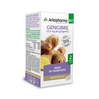 Arkocápsulas Gengibre 48 Cápsulas, especialmente desenvolvido para pessoas que desejam melhorar a sua digestão e que enjoam quando forme de viagem. Atua de forma sinérgica, respeitando ao máximo o seu organismo.