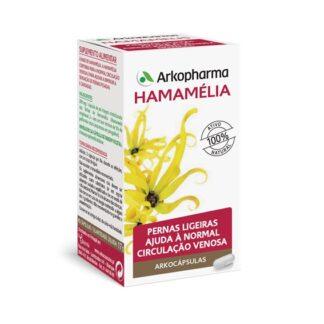 Arkocápsulas Hamamélia 45 Cápsulas é um suplemento alimentar formulado para estimular a circulação e ajudar a reduzir a sensação de pernas cansadas.
