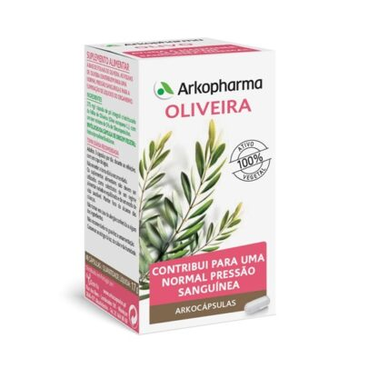 Arkocápsulas Oliveira 48 Cápsulas, suplemento alimentar especialmente desenvolvido para as pessoas que desejam controlar a pressão arterial. Atua de forma sinérgica, respeitando ao máximo o seu organismo.