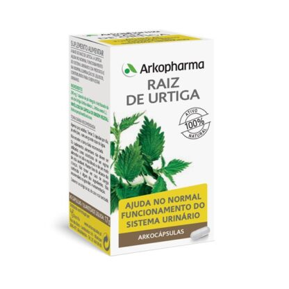 Arkocápsulas Raiz de Urtiga é um suplemento alimentar à base de Raiz de Urtiga.