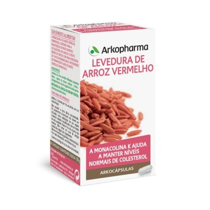 Arkocápsulas Levedura de Arroz Vermelho 45 Cápsulas é um suplemento alimentar especialmente desenvolvido paraajudar a controlar o nível de colesterol.
