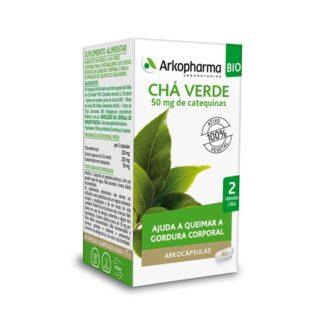 Arkocápsulas Chá Verde 45 Cápsulas, suplemento alimentar especialmente desenvolvido para ajudar a queimar a gordura corporal. Atua de forma sinérgica, respeitando ao máximo o seu organismo.