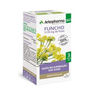 Arkocápsulas Funcho 45Cápsulasé um suplemento alimentar formulado para as pessoas que desejam recuperar o seu bem-estar digestivo.