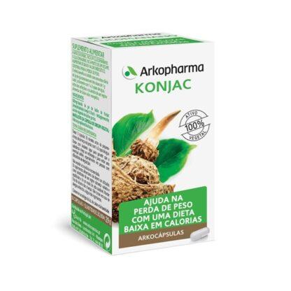 Arkocápsulas Konjac 80 Cápsulas, suplemento alimentar especialmente desenvolvido para as pessoas que desejam perder peso. Atua de forma sinérgica, respeitando ao máximo o seu organismo.