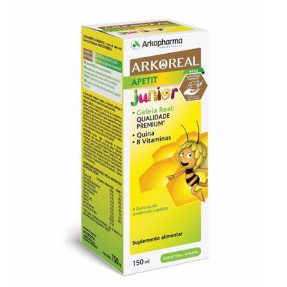 Arkoreal Apetit Junior 150ml,suplemento alimentar à base de Geleia Real, Quina e 8 Vitaminas. Solução bebível.