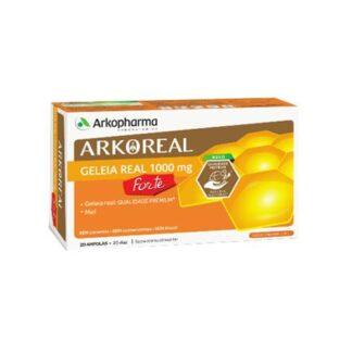 Arkoreal Geleia Real 1000mg 20 Ampolas, é o resultado da união entre o mundo vegetal e animal. A geleia real é uma substância excretada pelas abelhas obreiras e é o alimento exclusivo da abelha rainha durante toda a sua vida.
