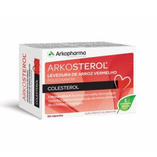 Arkosterol Levedura De Arroz Vermelho 60 Cápsulas, um suplemento alimentar à base de levedura de arroz vermelho e policosanóis da cana de açúcar. Contribui para a manutenção dos níveis normais de colesterol no sangue.