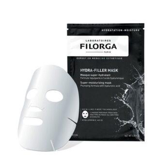 Filorga Hydra-Filler Máscara Super Hidratante 1 Dose,máscara de tecido hidratante e avolumadora com ácido hialurónico. De tal forma que garante um efeito pele bonita imediatamente visível.