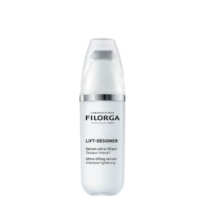 Filorga Lift-Designer Sérum Ultra Lifting 30 ml,formulado com ingredientes ativos derivados dos atosestéticos. De tal forma que cria um efeito antienvelhecimento radical. Além dissodupla ação tensora.