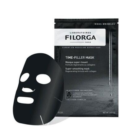 Filorga Time Filler Máscara Super Alisadora 1 Dose,amáscara de tecido tensora, bem como, alisadora com colagénio. Com o propósito de proporcionar efeito regenerador intensivo.