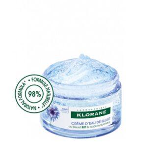 Klorane Ciano Creme de Água de Ciano 50ml, com Flor de Ciano BIO e Ácido Hialurónico de origem vegetal