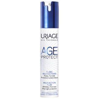 Uriage Age Protect Fluido Multi Ação 40ml, atua sobre os sinais de idade e sobre as agressões externas a que a pele está sujeita diariamente. Diminui o tamanho dos poros enquanto afina o grão da pele, para uma tez visivelmente mais lisa.