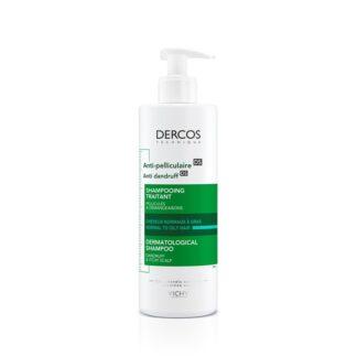 Vichy Dercos Technique Champô Anticaspa Oleosa 390ml Um champô que atua contra a caspa numa fórmula intensamente purificante para cabelo normal a oleoso