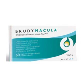 Brudy Mácula Suplemento Alimentar 60 Cápsulas, projetado com a finalidade de complementar as necessidades diárias de ácidos graxos essenciais da família ômega-3,como DHA e EPA. Assim como o grupo incluído de vitaminas, oligoelementos e carotenóides, como luteína e zeaxantina.
