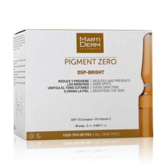 Martiderm Pigment Zero Dsp Bright 30 Ampolas,com o propósito dereduzir e prevenir o aparecimento de manchas.