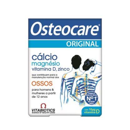 Osteocare contém cálcio que é o mineral mais abundante encontrado nos ossos, ajudando a mantê-los fortes e rígidos