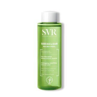 SVR Sebiaclear Micro-Peel 150ml, água renovadora ativa, desobstrui os poros e suaviza a pele.