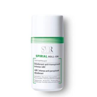 SVR Spirial Roll-On Desodorizante 50 ml,com a finalidade deregular a transpiração 48h. Além dissoabsorve a humidade e luta contra o mau odor.